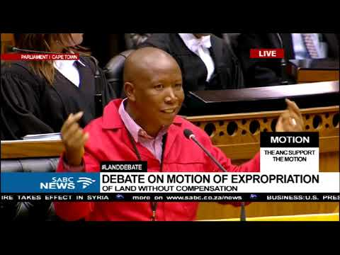 Malema hits out at Lekota over the land issue #LandDebate