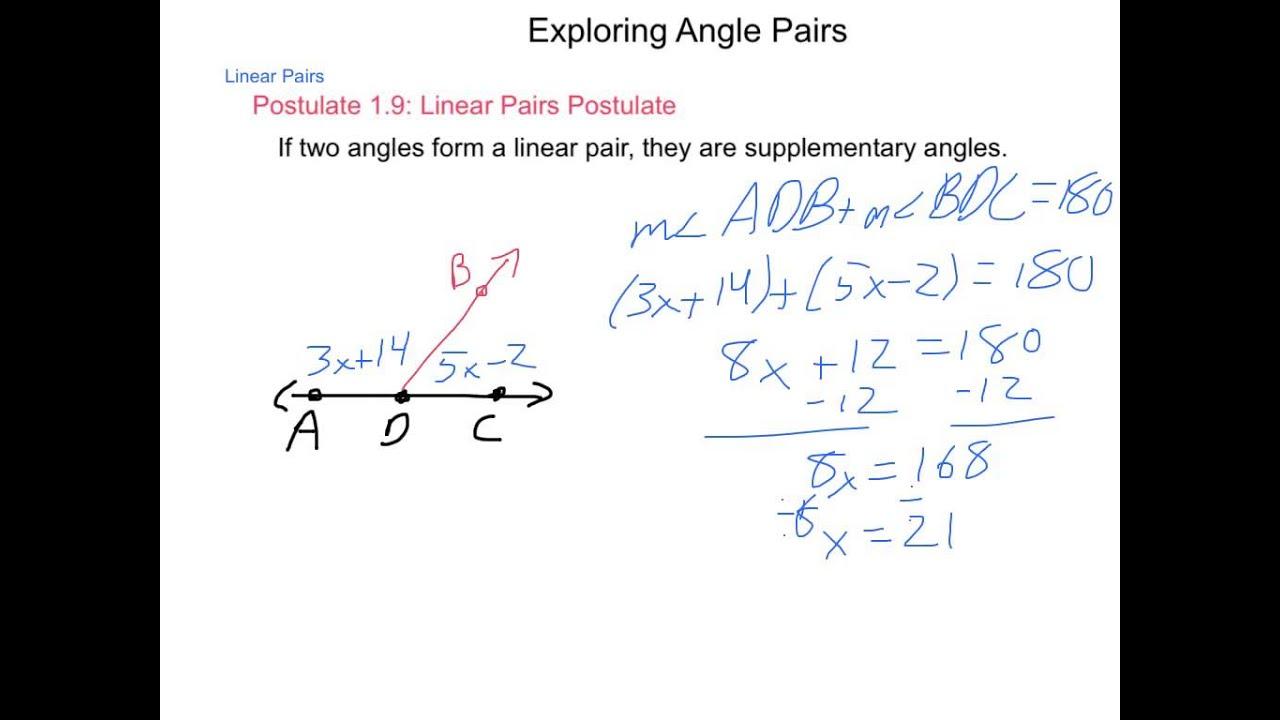 Geometry 1 5 Exploring Angle Pairs