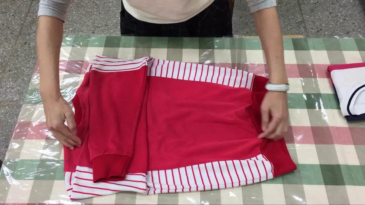 摺衣服長袖T恤2-中年級 - YouTube