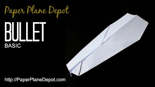 How to make a paper airplane - the Bullet