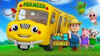 Wheels on the bus | kids songs | nursery rhymes for children by Farmees