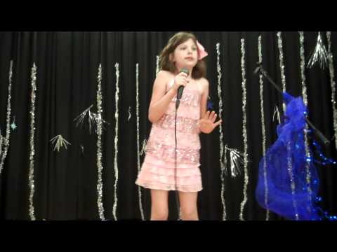 "10 year old girl forgets lyrics of ""Popular"" in talent show, but still ends on high note"