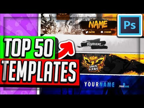 ⭐️[TOP 50] YouTube Banner Template Photoshop|YouTube Banner Template Download|Banner Template PSD