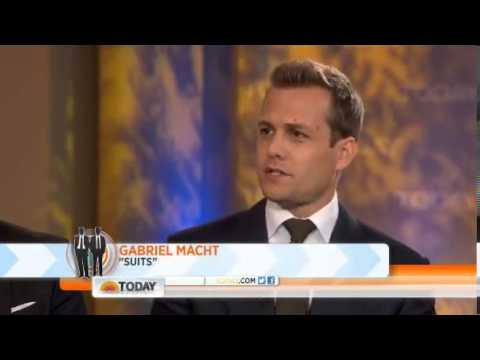 Gabriel Macht and Patrick J  Adams on The Today Show 7 16 13