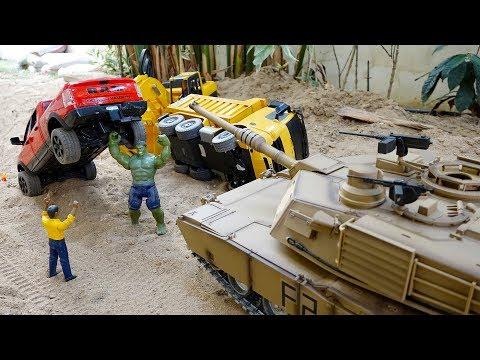 탱크 장난감 포크레인 중장비 트럭놀이 Tank Toy Helps Excavator Truck