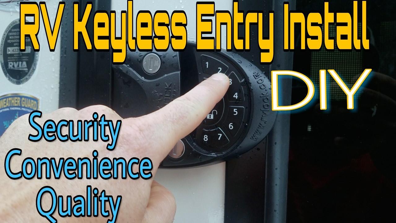 Rv Keyless Entry Install Diy Door Lock Install Road Warrior Gear