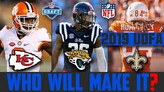 Best UDFA On Every NFL Team (2019 NFL DRAFT UNDRAFTED FREE AGENT SIGNINGS) Who Will Make The Team?