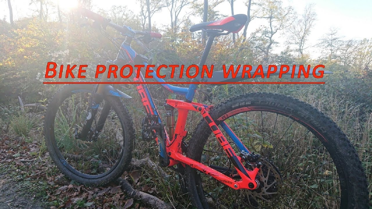 Bike protection wrapping, MTB folieren - YouTube
