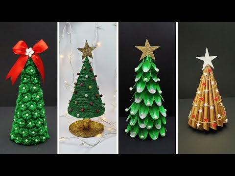 4 Easy DIY Christmas Tree Ideas | Best Out of Waste | DIY Christmas Decorations