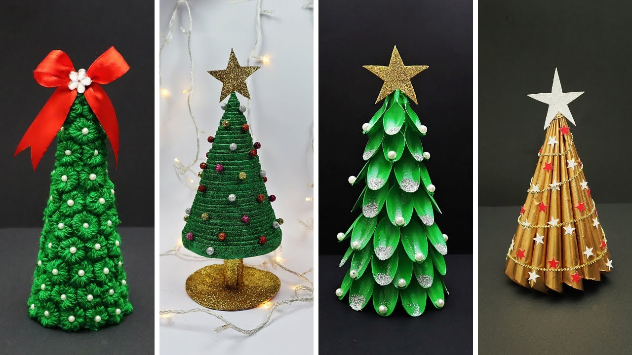 20 Easy DIY Christmas Tree Ideas   Best Out of Waste   DIY Christmas  Decorations