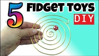 5 COOL DIY FIDGET TOYS - DIY EASY TOYS FOR KIDS TO MAKE - HOUSEHOLD ITEMS - SCHOOL TOYS -FUN DIYS