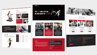 #1 Fitness & Gym  Complete  Website Template using by  Html Css