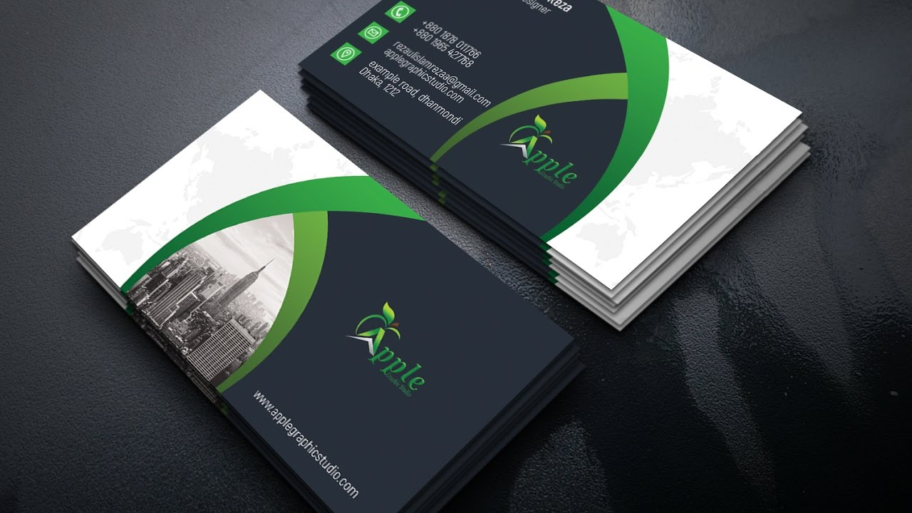 Professional Business Card Design Photo Tutorial Le Graphic Studio