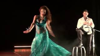 Belly dance Lou Pradas & Peter Borcsok - modern baladi @Dance4children 2016