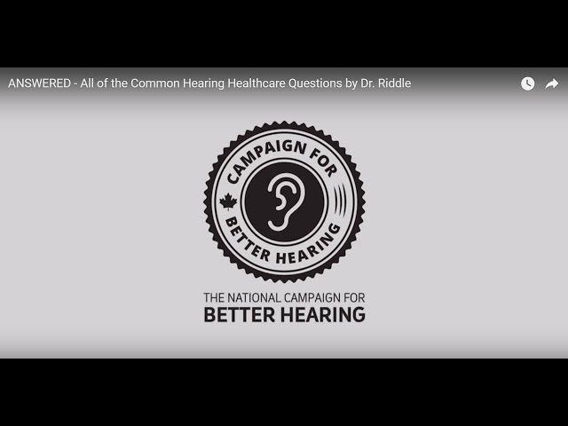 ANSWERED - All of the Common Hearing Healthcare Questions by Dr. Riddle