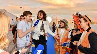 Киркоров и  DoReDos на синей дорожке открытия Евровидения 2018. Португалия, 6.05.2018