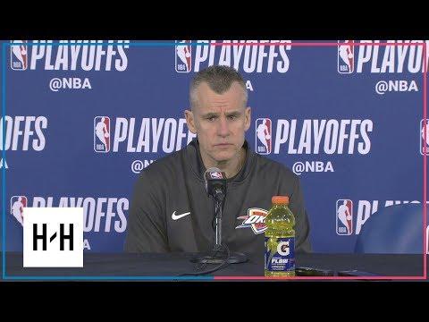 Billy Donovan Postgame Press Conference | Jazz vs Thunder - Game 2 | 2018 NBA Playoffs