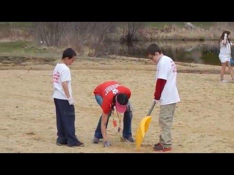 Pleasant Street School Cleans Up