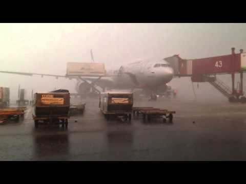 Thunderstorm at Sheremetyevo international airport 23/05/2013