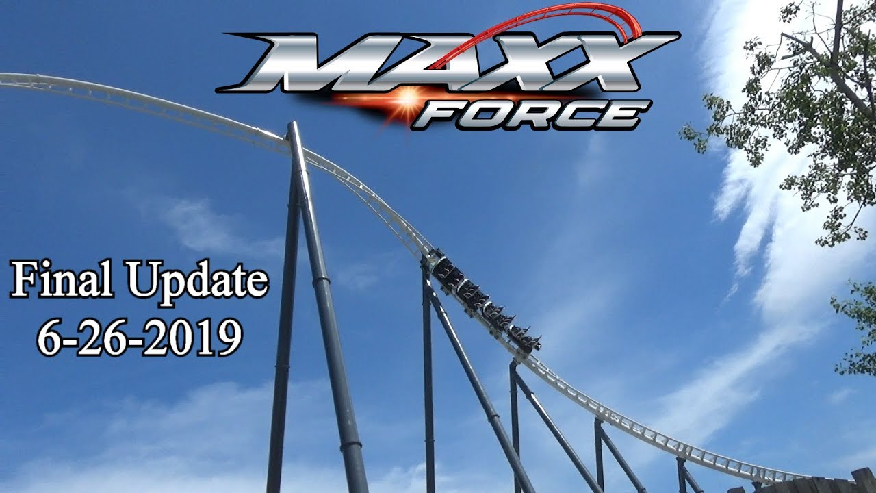 Maxx Force Final Update (Aerial View) 6-26-2019 At Six Flags Great America