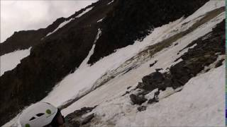 The dump at grand couloir mont blanc