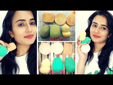 How to CLEAN BEAUTY BLENDERS / SPONGE | Deep Cleaning | How to Disinfectant Sponge |SWATI BHAMBRA