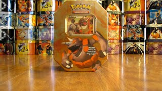 Pokemon Rhyperior Lv. X Tin Opening