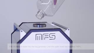 05. Start device, fill water - MFS cleanroom fog generator