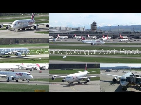 [HD] 45 Minutes of wonderful Planespotting @ Zurich Airport | 01.04.17