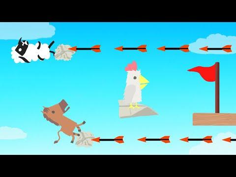 3 Flying Noobs VS Killer Arrows! (Ultimate Chicken Horse)
