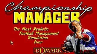 Championship Manager gameplay (PC Game, 1992)
