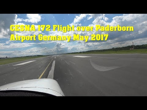 CESNA 172 Flight over Paderborn Airport , Germany May 2017