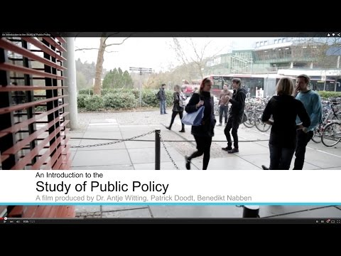 An Introduction to the Study of Public Policy