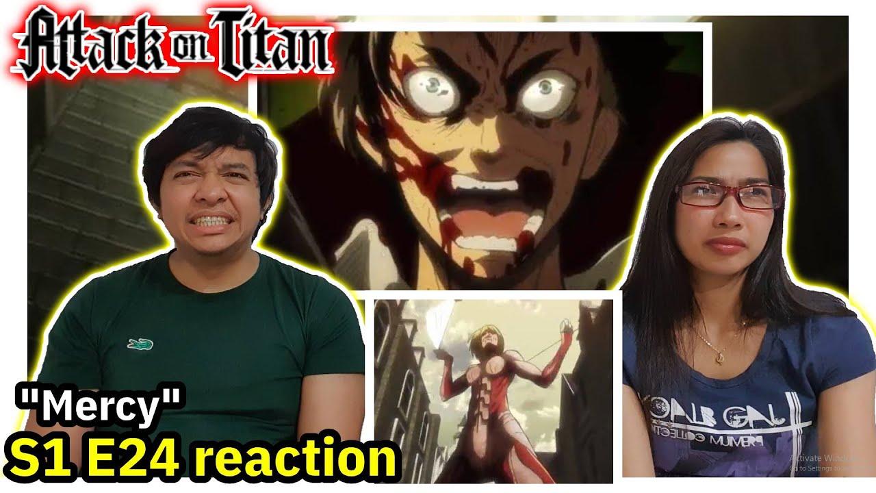 Attack on Titan Season 1 Episode 24 Reaction - YouTube