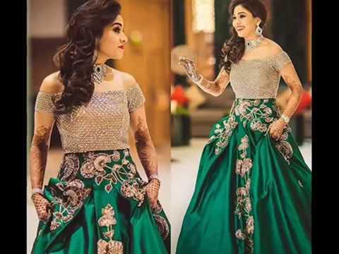Designer Engagement Dresses For Indian Bride 2017 - YouTube