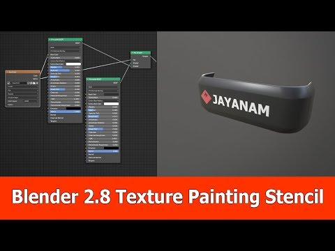 Blender 2.8 Texture Painting Tutorial with Stencil and Alpha Mask thumbnail