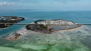 Aerial view of the Keys.