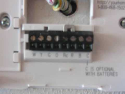 Hvac Wiring Diagram Thermostat John Deere 410 Alternator How To Video Youtube