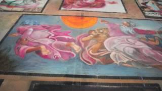 Sistine Chapel ceiling  Re-Creation Chalk Art