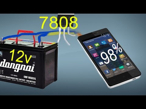 Using Car Battery To Charge The Phone Battery Charger Android With 9v 12v