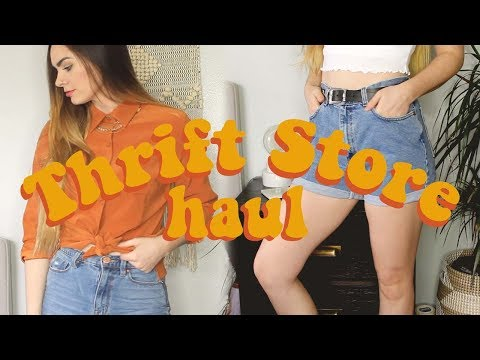THRIFT WITH ME! Try On Thrift Store Haul