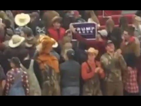 White Trump Fans Turn Backs To Black Basketball Team