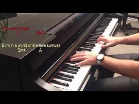 Almaz (HQ piano cover with chords & lyrics)