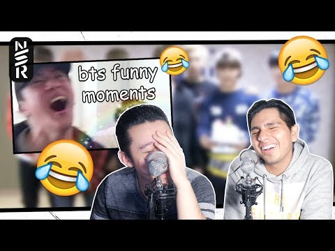 GUYS REACT TO 'BTS being the funniest boyband in the world for 10 minutes straight'