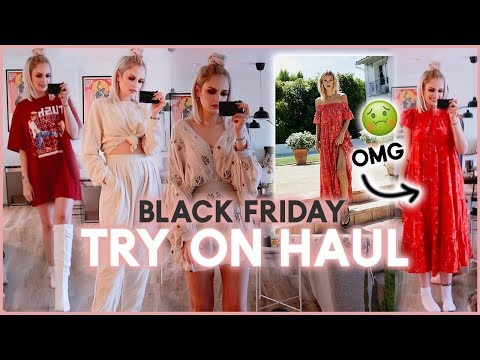 Black Friday Try On Haul!   Free People, Aritzia & Urban Outfitters