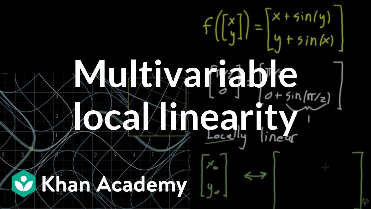 Local linearity for a multivariable function (video) | Khan