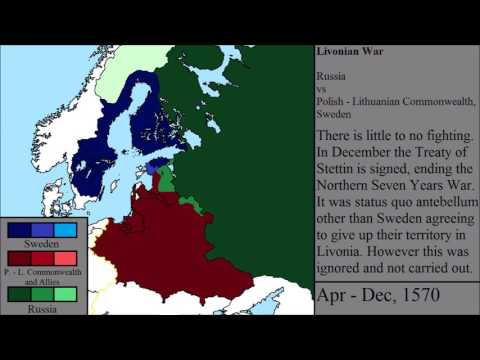 The Livonian War and Northern Seven Years War: Every Month