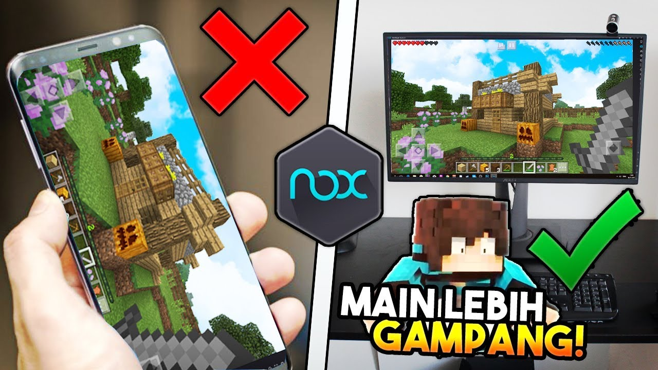 CARA MAIN MINECRAFT PE DI PC PAKAI NOXPLAYER  ! *Giveaway ...