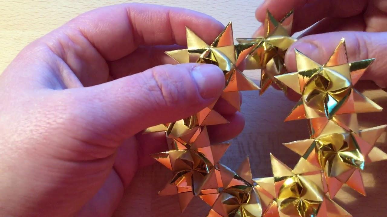 Lav en krans af flettede stjerner - klassisk julestjerne