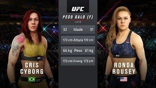 EA Sports UFC 3 - Cris Cyborg Vs Ronda Rousey - HD 1080p 60fps